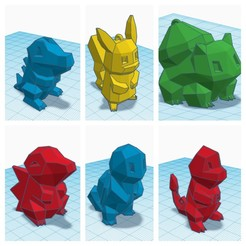 pokemon3.jpg Download STL file Pokemon keychain • 3D print design, AldairPadillaG