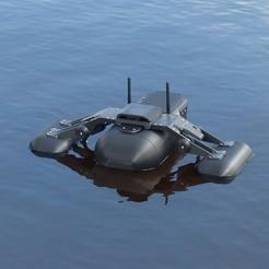 Download STL Drone AquaPod V2, Roman_Weitendorf
