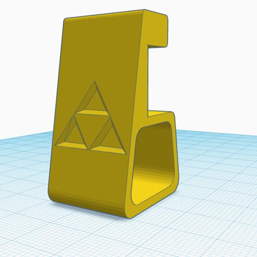 Soporte Ps4 Zelda Triforce.png Download STL file Ps4 Zelda Triforce Support • Template to 3D print, venturasantoshidalgo22