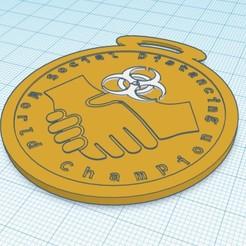 Descargar STL Medalla al campeón del distanciamiento social, vondohlenj9965