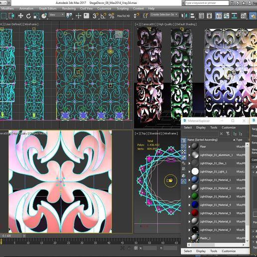 70-Max-08-01-1680.JPG Download STL file Stage Decor Collection 01 (Modular 9 Pieces) • 3D printer model, akerStudio