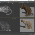Download STL file 3D Jigsaw Puzzle Cat 1, akerStudio
