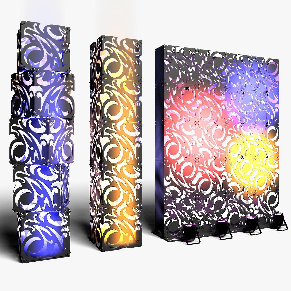 70-07-01-1200x1200.jpg Download STL file Stage Decor Collection 01 (Modular 9 Pieces) • 3D printer model, akerStudio