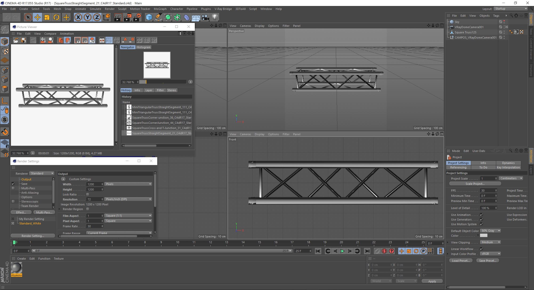 30-21_C4dR17_Standard.JPG Download free STL file Square Truss Straight Segment 21 • 3D printable object, akerStudio