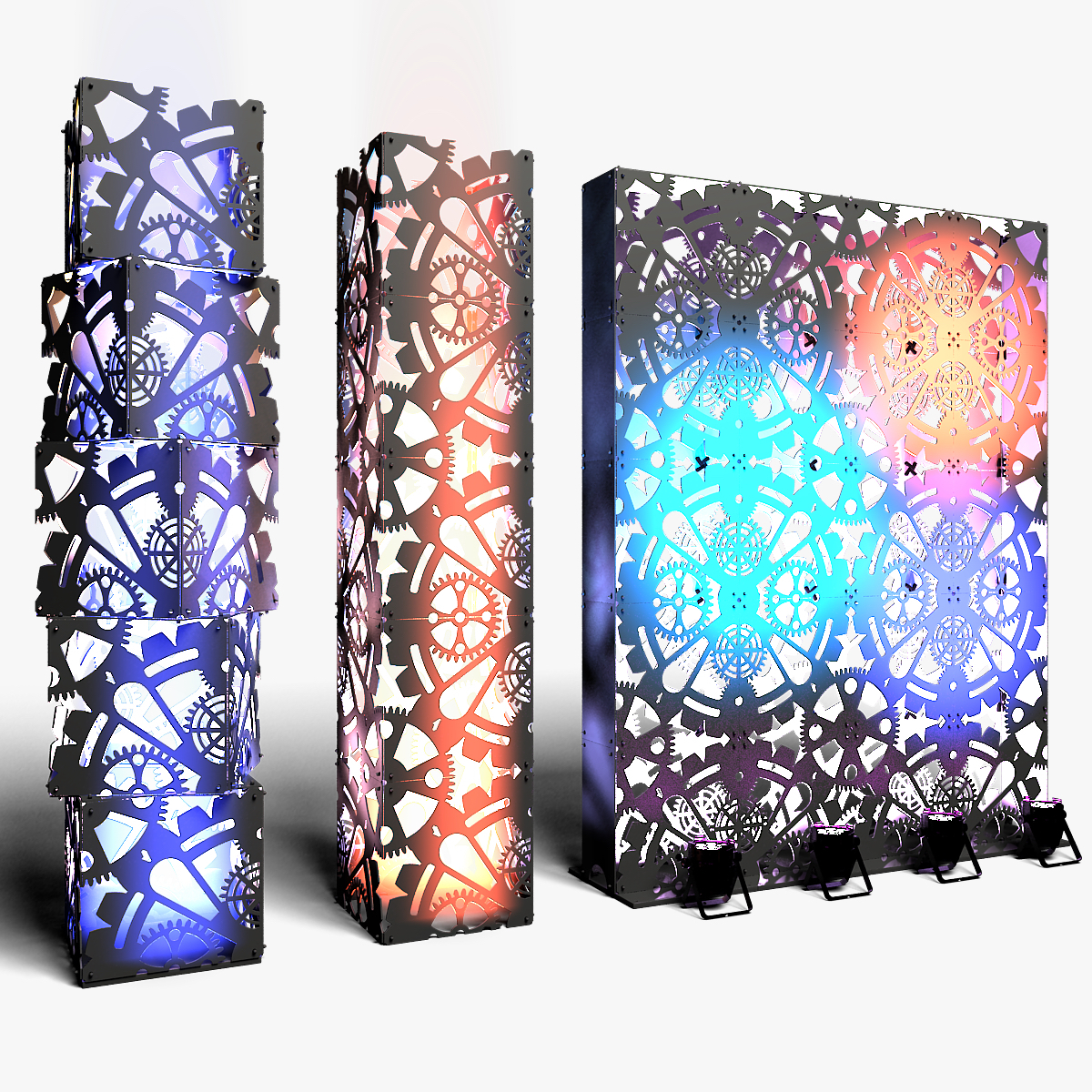 70-01-01-1200x1200.jpg Download STL file Stage Decor Collection 01 (Modular 9 Pieces) • 3D printer model, akerStudio