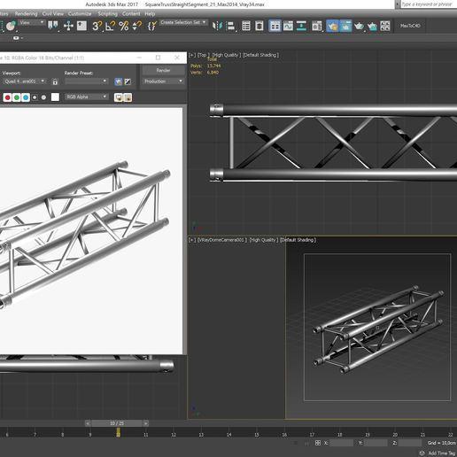 30-21_Max2014_Vray34.JPG Download free STL file Square Truss Straight Segment 21 • 3D printable object, akerStudio