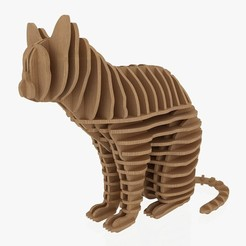 Download STL file 3D Jigsaw Puzzle Cat 1, akerStudio