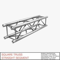 Download 3D printer files Square Truss Straight Segment 21, akerStudio