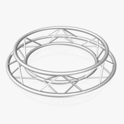 Download free 3D printer designs Circle Square Truss - Full diameter 150cm, akerStudio