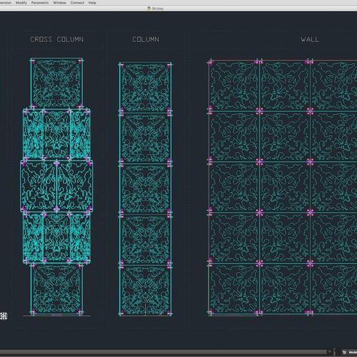 70-Cad-06-01-1680.jpg Download STL file Stage Decor Collection 01 (Modular 9 Pieces) • 3D printer model, akerStudio