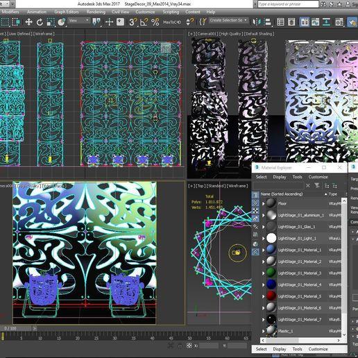 70-Max-09-01-1680.JPG Download STL file Stage Decor Collection 01 (Modular 9 Pieces) • 3D printer model, akerStudio
