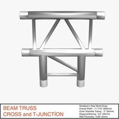 Download free 3D printer designs Beam Truss Cross and T Junction 134, akerStudio