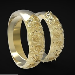 1.jpg Download OBJ file wedding band • 3D print object, Boyka97