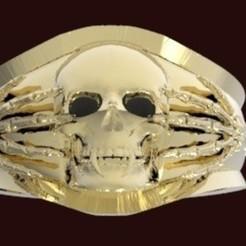 Imprimir en 3D anillo calabera, Boyka97