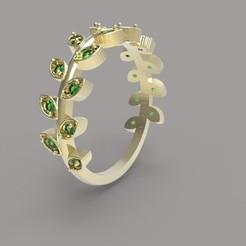 untitled.5.jpg Télécharger fichier OBJ anneau de feuille pleine • Design pour impression 3D, Boyka97