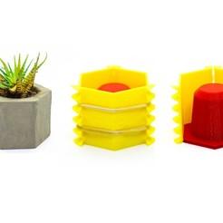 Download 3D printer designs 8 Concrete Pot Mold 3D print model, TIXEN