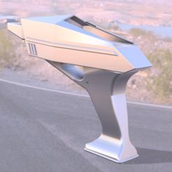 Tesla Pistolaser v10.png Download free STL file Tesla Laser Gun - Invaders • 3D printing design, Francky40