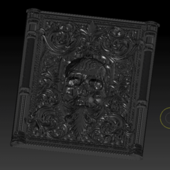 Relief Skull (1).png Télécharger fichier OBJ Crâne de secours • Plan imprimable en 3D, 449324844