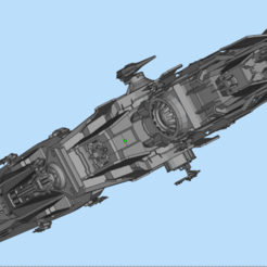 DESTROYER__Tyrant (1).png Download OBJ file Star Conflict Jericho destroyer Tyrant • Object to 3D print, DesignerWinterson
