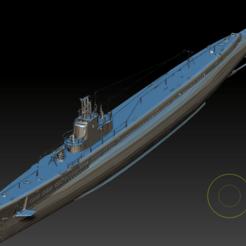 American submarine Gato (10).png Télécharger fichier OBJ Sous-marin américain Gato • Plan pour imprimante 3D, 449324844