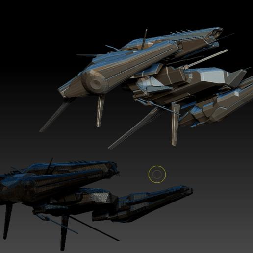 Command Destroyers (6).png Download OBJ file Draugur Kikimora  Command Destroyers • 3D print model, DesignerWinterson