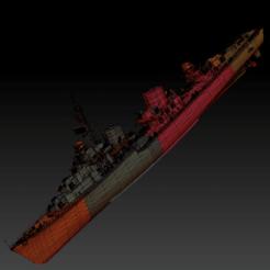 Z-52 (1).png Download OBJ file Destroyer z-52 • 3D printable model, 449324844
