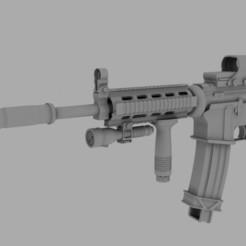 M4A1 render.jpeg Download OBJ file Rifle -M4A1 • 3D printable object, DesignerWinterson