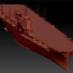 Download STL files Hakuryu aircraft carrier, 449324844