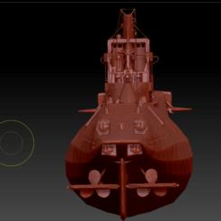 K-1 (4).png Download OBJ file K-1 Soviet submarine • 3D printable template, DesignerWinterson