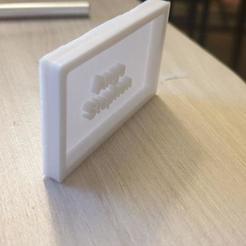 Download 3D print files chamber door plate, MATHIEU91300FR