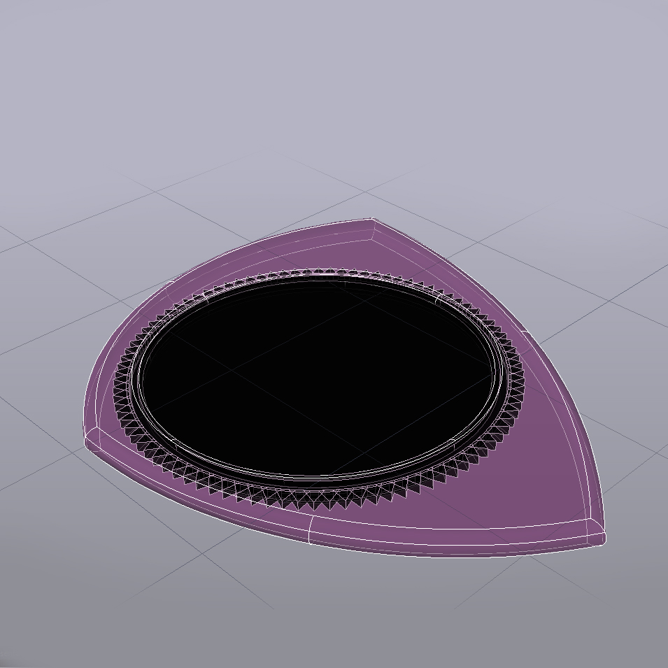 PITA 021020192345-5 RayosX.jpg Télécharger fichier STL gratuit PITA 021020192345 Pua Nido 26X31MMM GUITAR PICK BY EXIMIENTA PLA - TPU DUAL EXTRUDER 3D • Plan à imprimer en 3D, carleslluisar