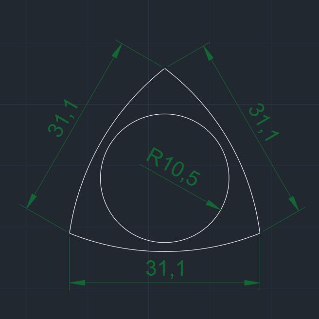 TRIANGLE-DENT lisa medidas.jpg Download free STL file POLY-LACTIC ACID PLA TRIANGLE-DENT CARBON FIBER WITH TPU THERMOPLASTIC POLYURETHANE NON-SKID BAND • 3D printer design, carleslluisar