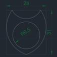 Télécharger fichier STL gratuit DUA-Lise 1'15R10 28x31 pic à guitare • Plan à imprimer en 3D, carleslluisar