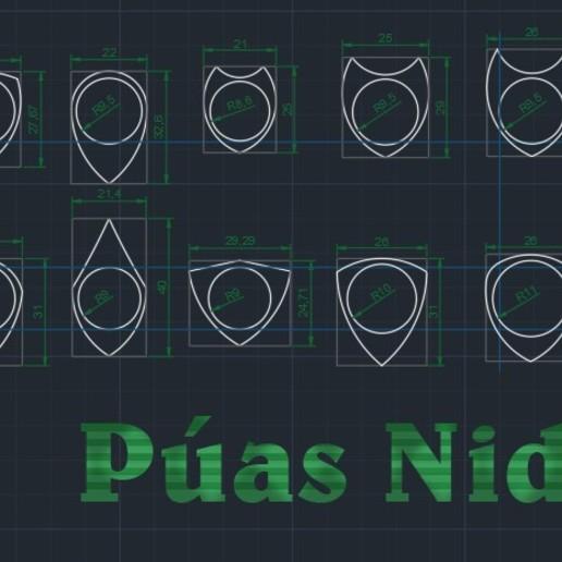 Puas Nido 251219 por Carlos Arrar - elemento 2762527.jpg Télécharger fichier STL gratuit SIMIR LBG PUA NIDO (NEST PICK GUITAR) pic de guitare électrique • Design à imprimer en 3D, carleslluisar
