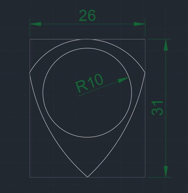 UNU-TRI Pua Nido R10 26x31 260320 medidas.jpg Télécharger fichier STL gratuit UNU-TRI Pua Nido (guitare à plectre) • Plan pour impression 3D, carleslluisar