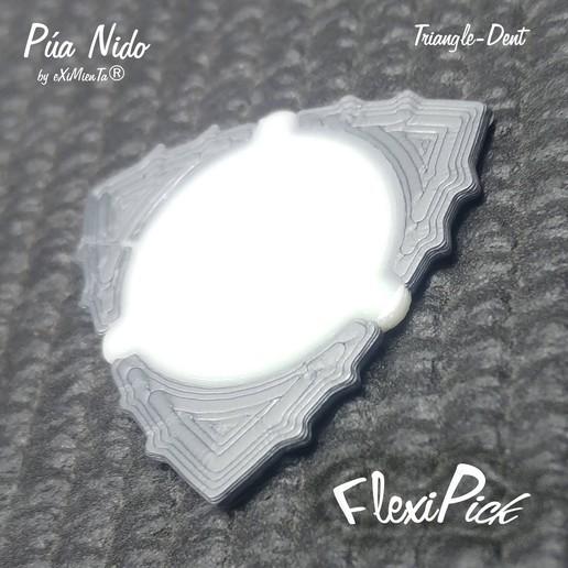 FlexiPick Giro The Guitar Play Pua Nido by eXiMienTa.jpg Télécharger fichier STL gratuit FlexiPick TRIANGLE-DENT guitare électrique flexible 3D PLA et TPU • Plan pour imprimante 3D, carleslluisar