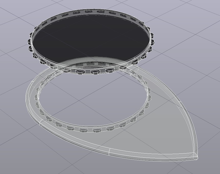 03 FlexCircle Raindrop-Lise 1'15mm Rayos-X.jpg Download free STL file FlexCircle Raindrop-Lise Nestle by eXiMienTa® • 3D printable design, carleslluisar