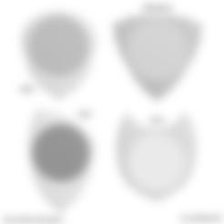 UNU-DENT4x4 FC 22042020 08 -oo-.stl Download free STL file UNU-DENT 3D Guitar Tine 2 Materials PLA / TPU Serrated Tines • Design to 3D print, carleslluisar