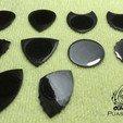 Puas Nido Series Lisas y Dentadas 25042020 by eXiMienTa.jpg Download free STL file UNU-DENT 3D Guitar Tine 2 Materials PLA / TPU Serrated Tines • Design to 3D print, carleslluisar