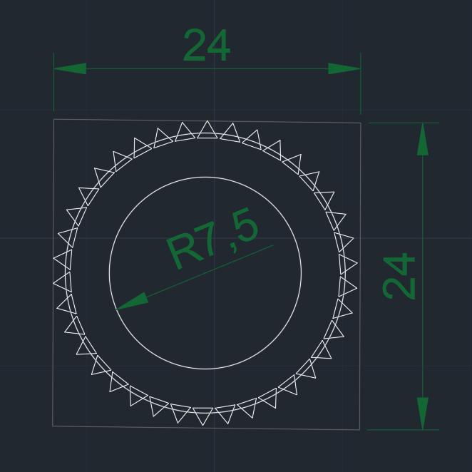 Radon-Denta medidas.jpg Télécharger fichier STL gratuit RADON Nest pick / pick / pick pour jouer de la guitare électrique • Objet pour imprimante 3D, carleslluisar