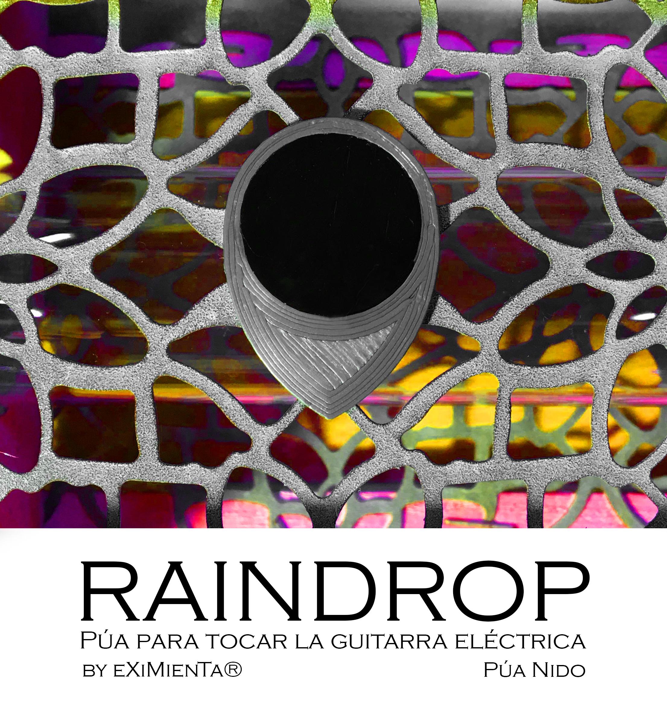RAINDROP plateblackR9 21x31 imagen.JPG Télécharger fichier STL gratuit RAINDROP R9 21x31 PUA NIDO (GUITARE ÉLECTRIQUE) • Design pour imprimante 3D, carleslluisar