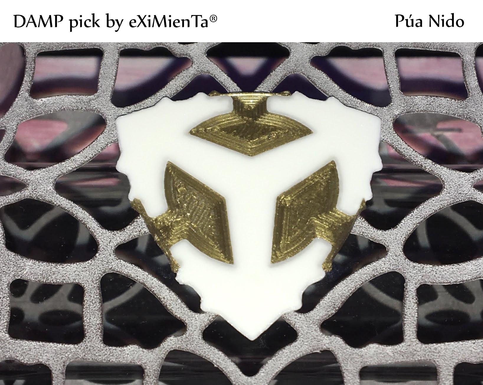 DAMP pick by eXIMienTa® 12092020.jpg Télécharger fichier 3MF gratuit DAMP pick by eXIMienTa® ORUS PLA And White TPU • Plan à imprimer en 3D, carleslluisar