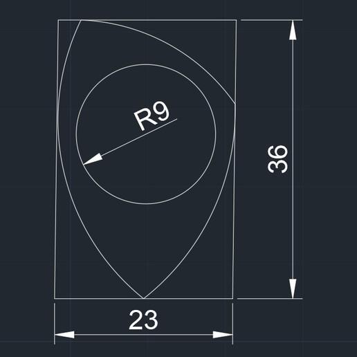 PITA  23x36R9 071020192313 foto medidas.jpg Télécharger fichier STL gratuit PITA 22x36R9 071020192313 PUA NIDO GUITAR PICK BY EXIMIENTA PLA - TPU DUAL EXTRUDER 3D guitar pick • Modèle à imprimer en 3D, carleslluisar