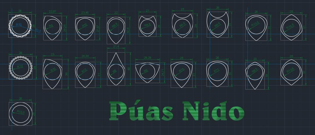 Puas Nido 251219 por Carlos Arrar - elemento 2762527.jpg Download free STL file KVAROM CURVE Pua Nido PLA SILVER and TPU White (Nest Pick Guitar) • Template to 3D print, carleslluisar