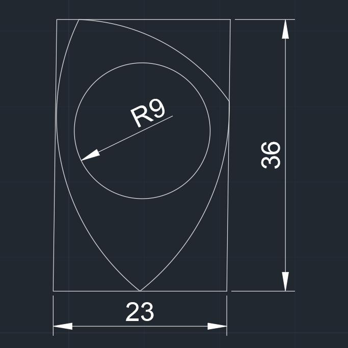 PITA  23x36R9 071020192313 foto medidas.jpg Télécharger fichier STL gratuit PITA 22x36R9 071020192313-11 PUA NIDO GUITAR PICK BY EXIMIENTA PLA - TPU DUAL EXTRUDER Plectre de guitare 3D • Plan pour impression 3D, carleslluisar