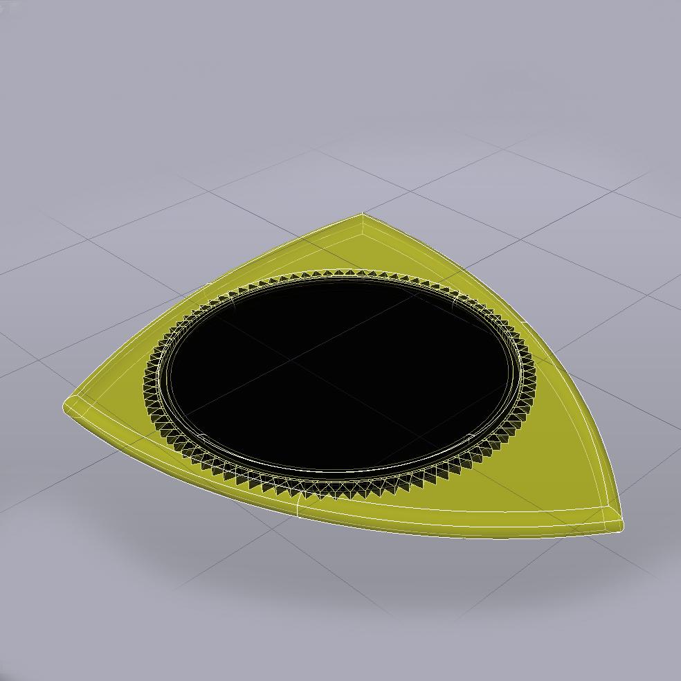 PITA Pua Nido 29919 foto pua Dent.jpg Télécharger fichier STL gratuit PITA Pua Nido 26X31MM GUITAR PICK BY EXIMIENTA PLA - TPU DUAL EXTRUDER 3D • Modèle pour imprimante 3D, carleslluisar