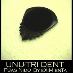 UNU-TRI DENT pua nido by eXiMienTa.jpg Download free STL file UNU-DENT / UNU-TRI DENT by eXiMenTaTing Guitar Weave Dual Extruder Carbon Fiber • 3D printer object, carleslluisar