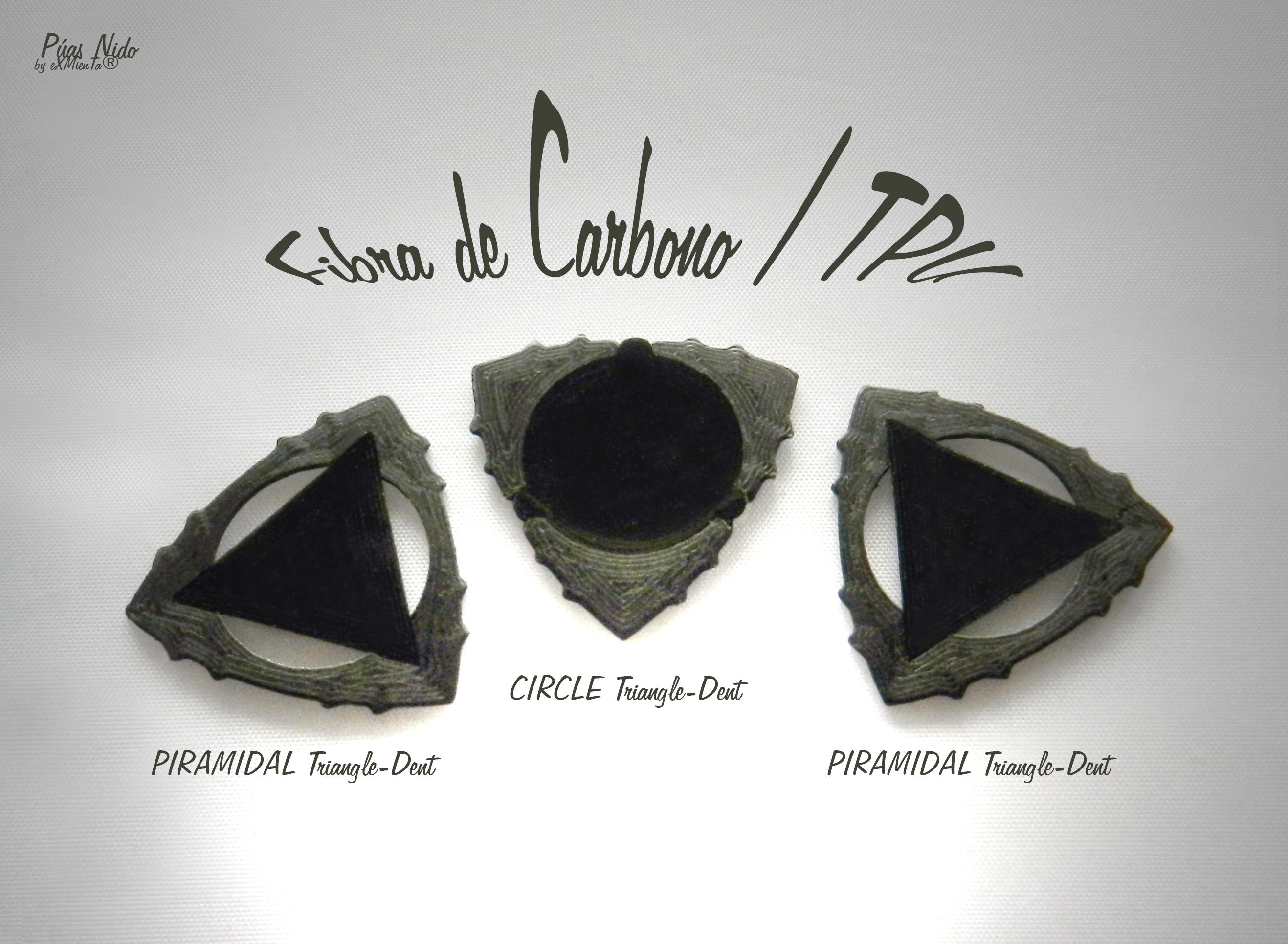 Triangle-Dent Circle'Piramidal.jpg Download free STL file Triangle-Dent Circle'Piramidal - Electric Guitar Stick & Bass • 3D printer template, carleslluisar