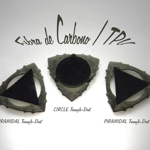Download free STL file Triangle-Dent Circle'Piramidal - Electric Guitar Stick & Bass, carleslluisar