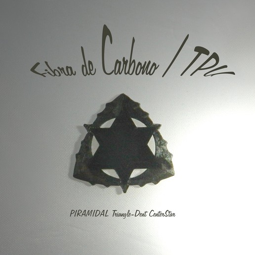 Triangle-Dent centerCircle'PiramidalStar.jpg Download free STL file Triangle-Dent Circle'Piramidal - Electric Guitar Stick & Bass • 3D printer template, carleslluisar